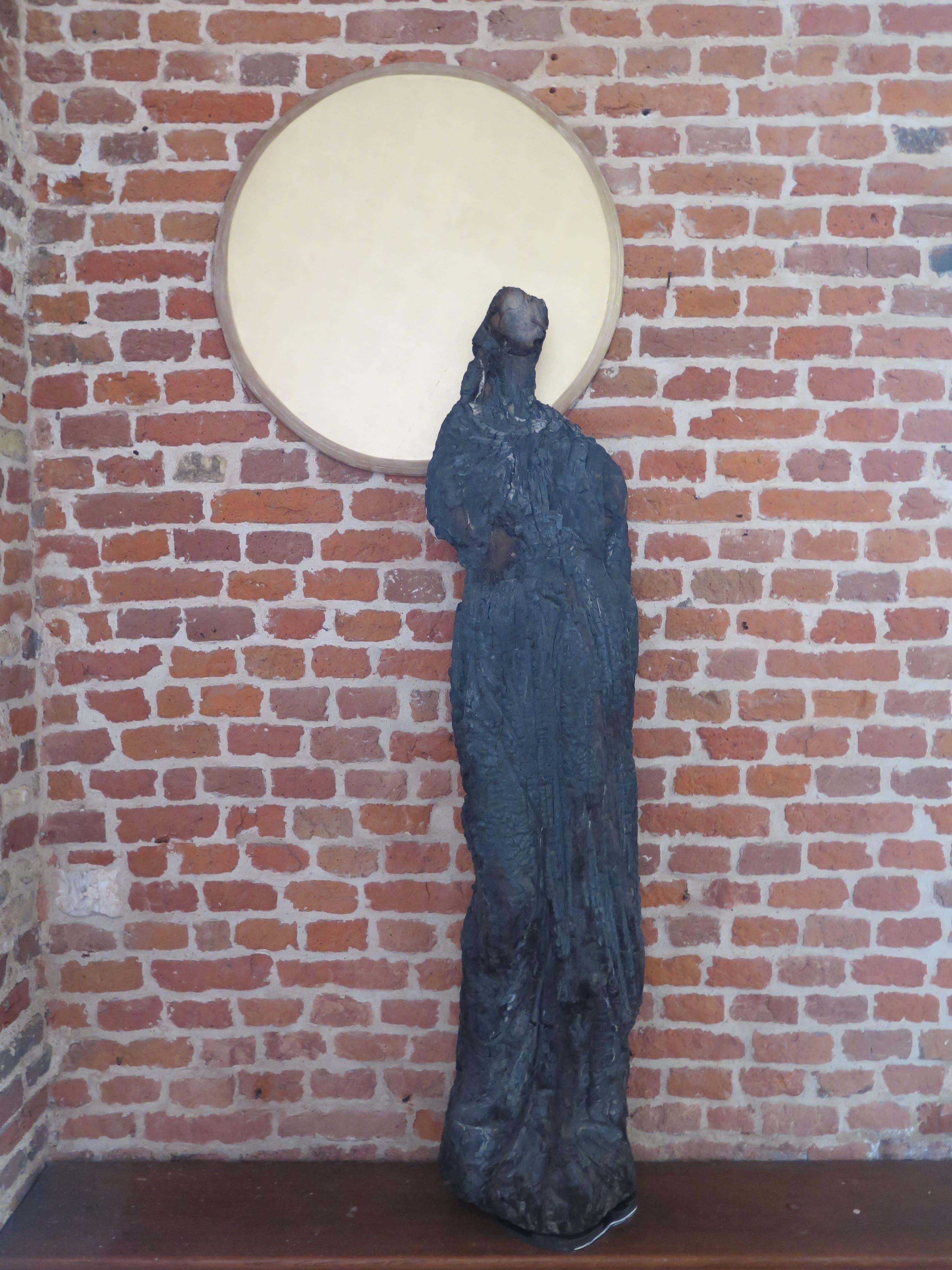 """""""La dame"""", sculpture calcinée, 2016."""