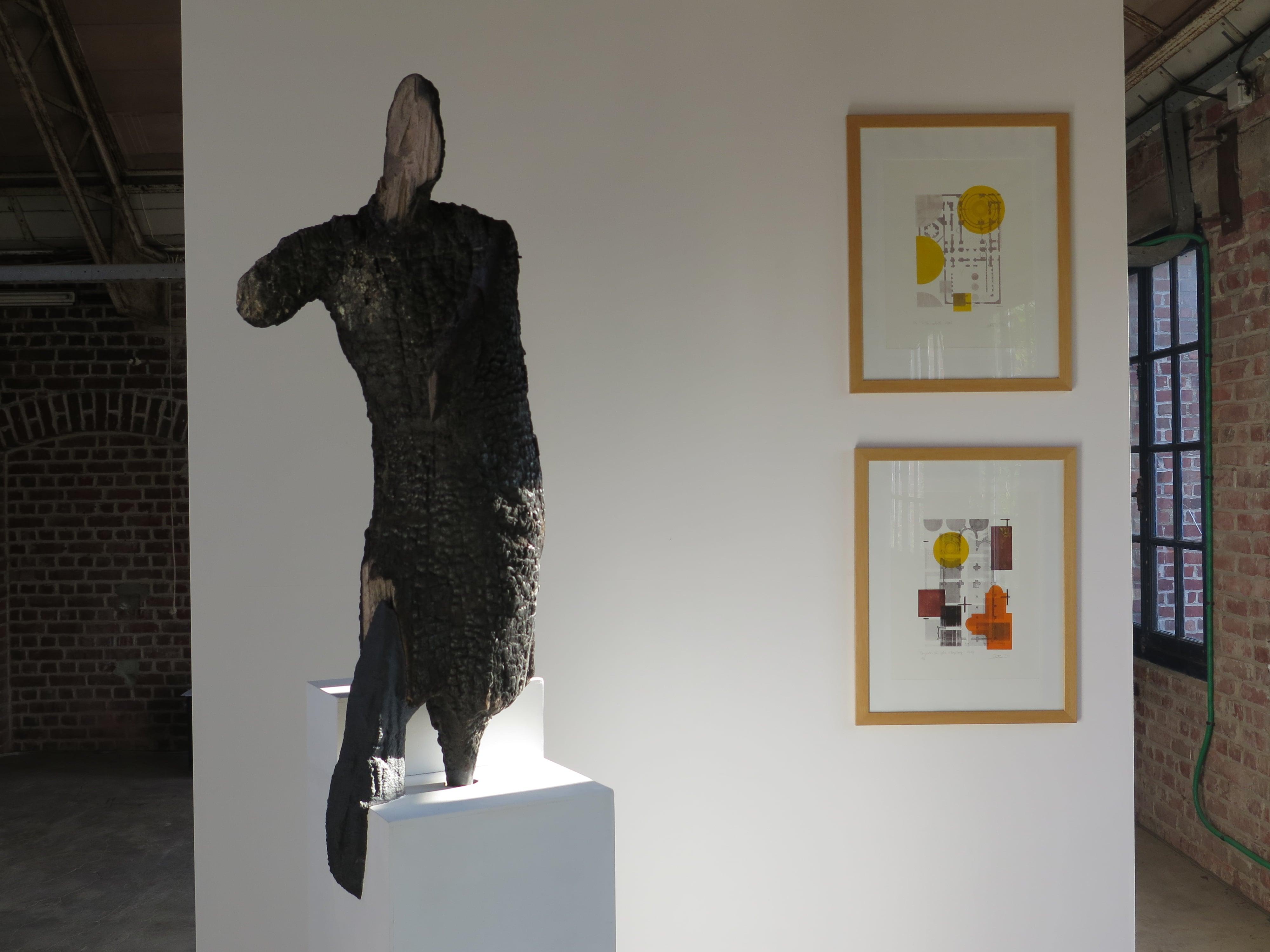Sculpture calcinée, Gravue Sophie Wirtz