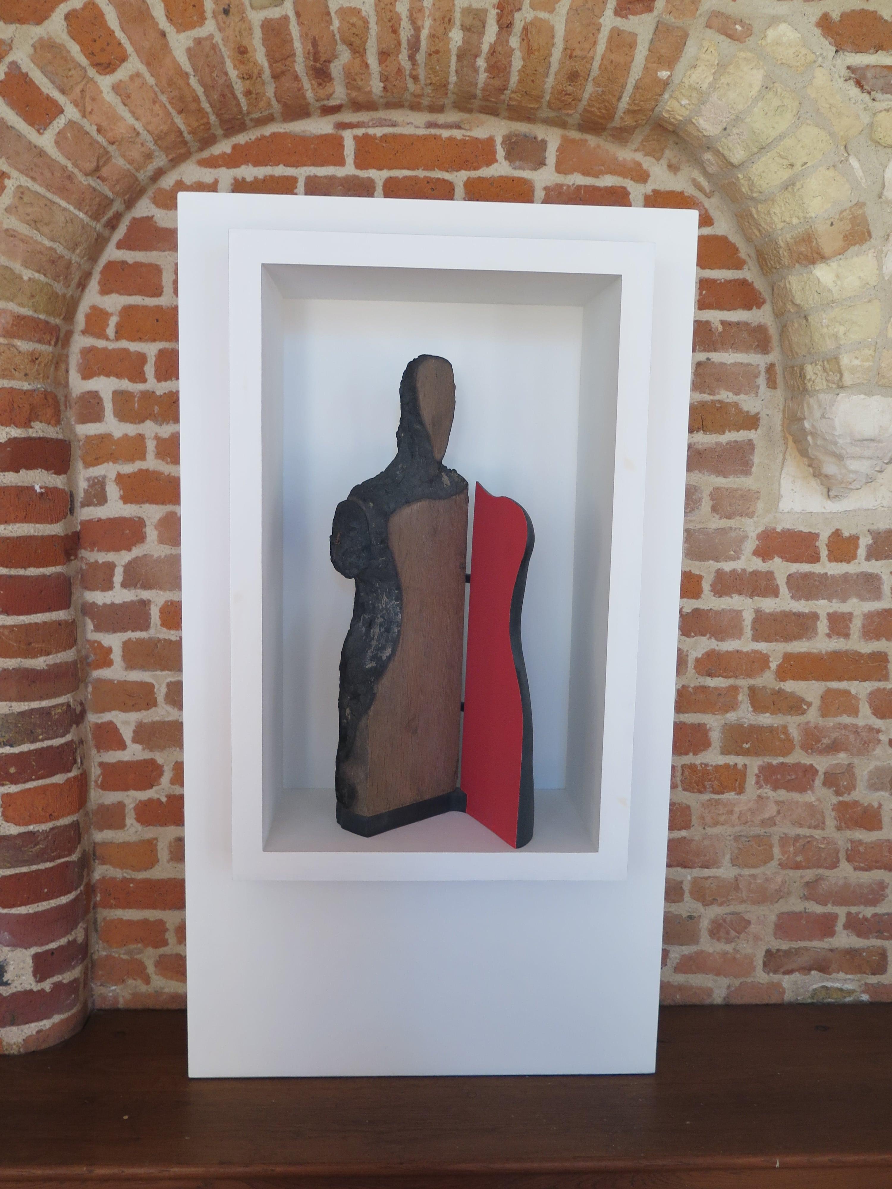 """""""La Vierge en ouverture"""", sculpture calcinée, 2016."""