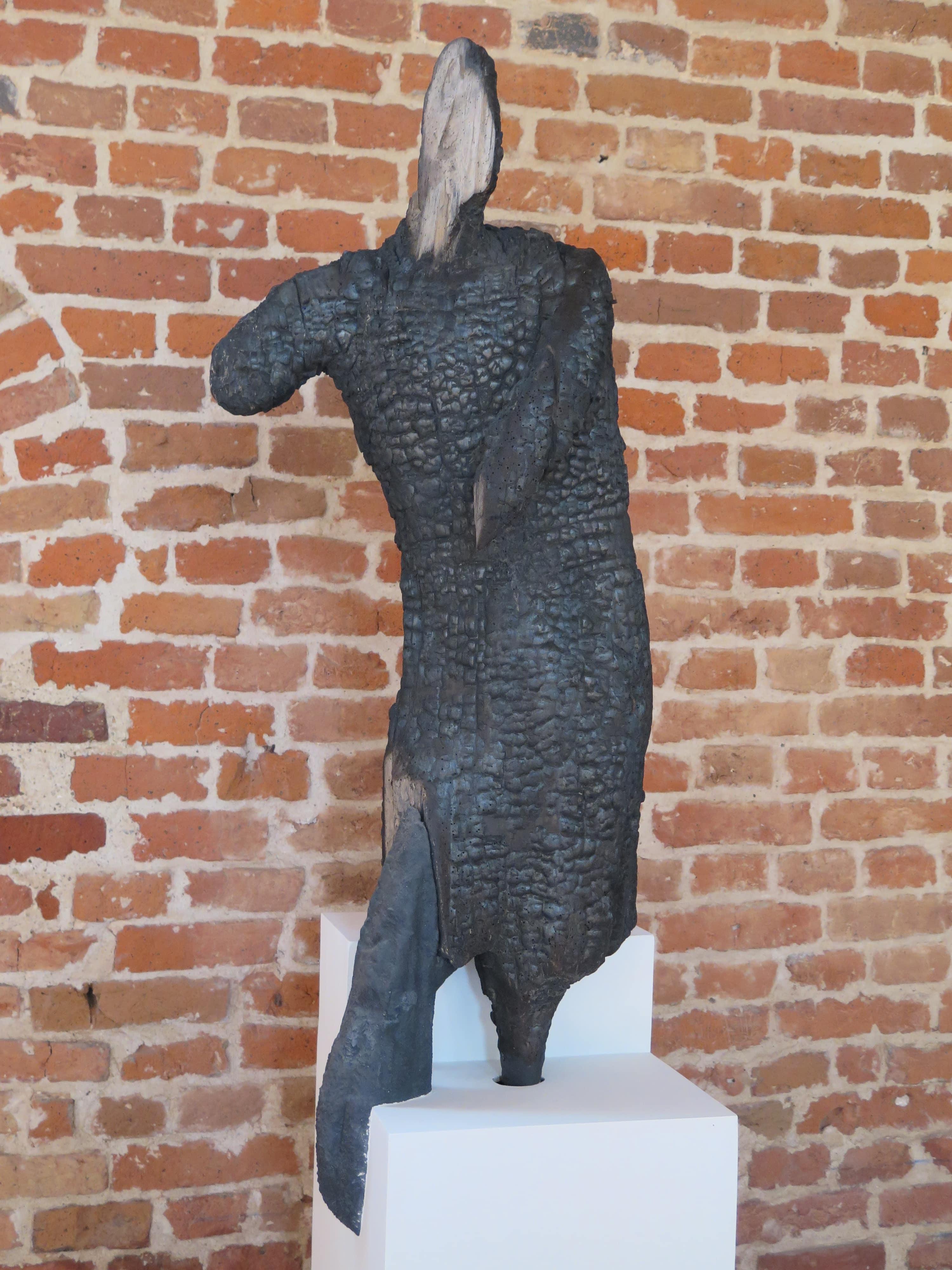 """Le Garde romain"", sculpture calcinée, 2016."