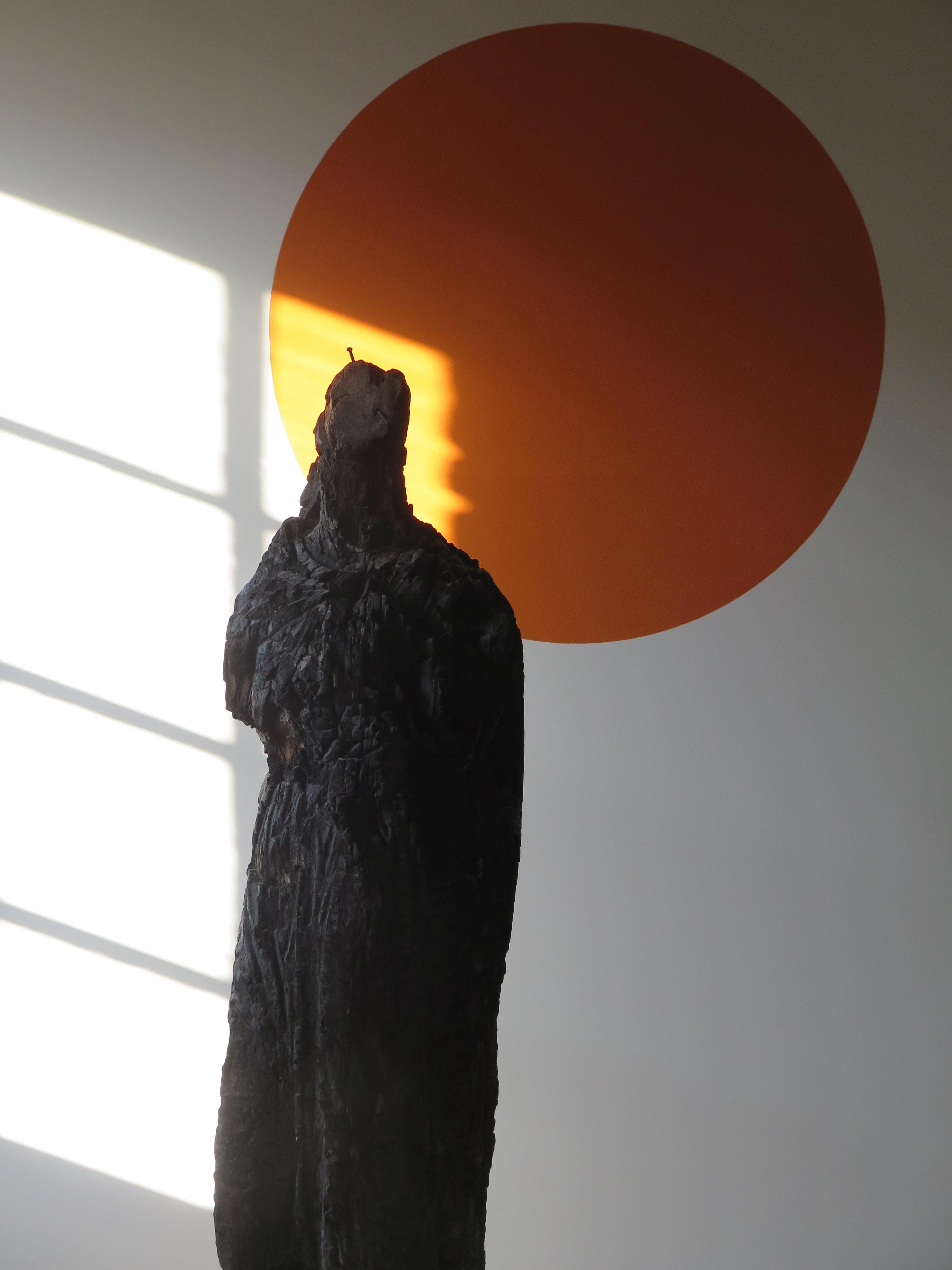La Dame, sculpture calcinée